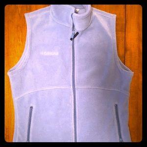 Light blue Columbia fleece vest, small